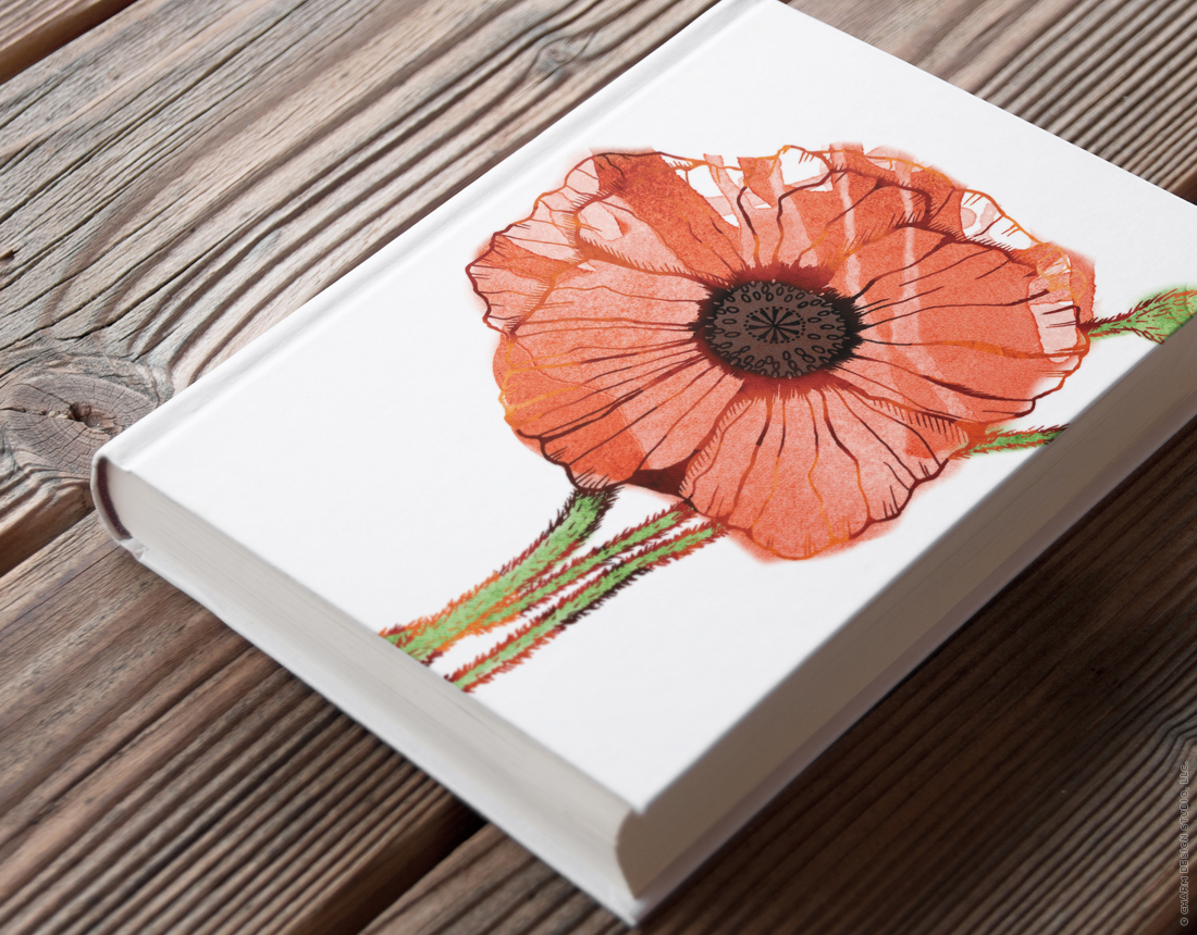 Garden Sunshine Poppy design by Charm Design Studio
