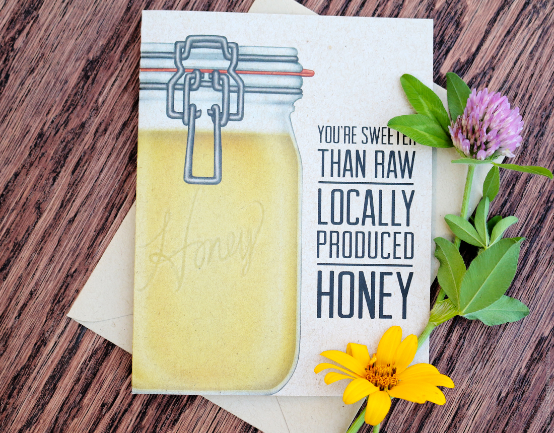 Honey Crunchy Greetings card by Charm Design Studio
