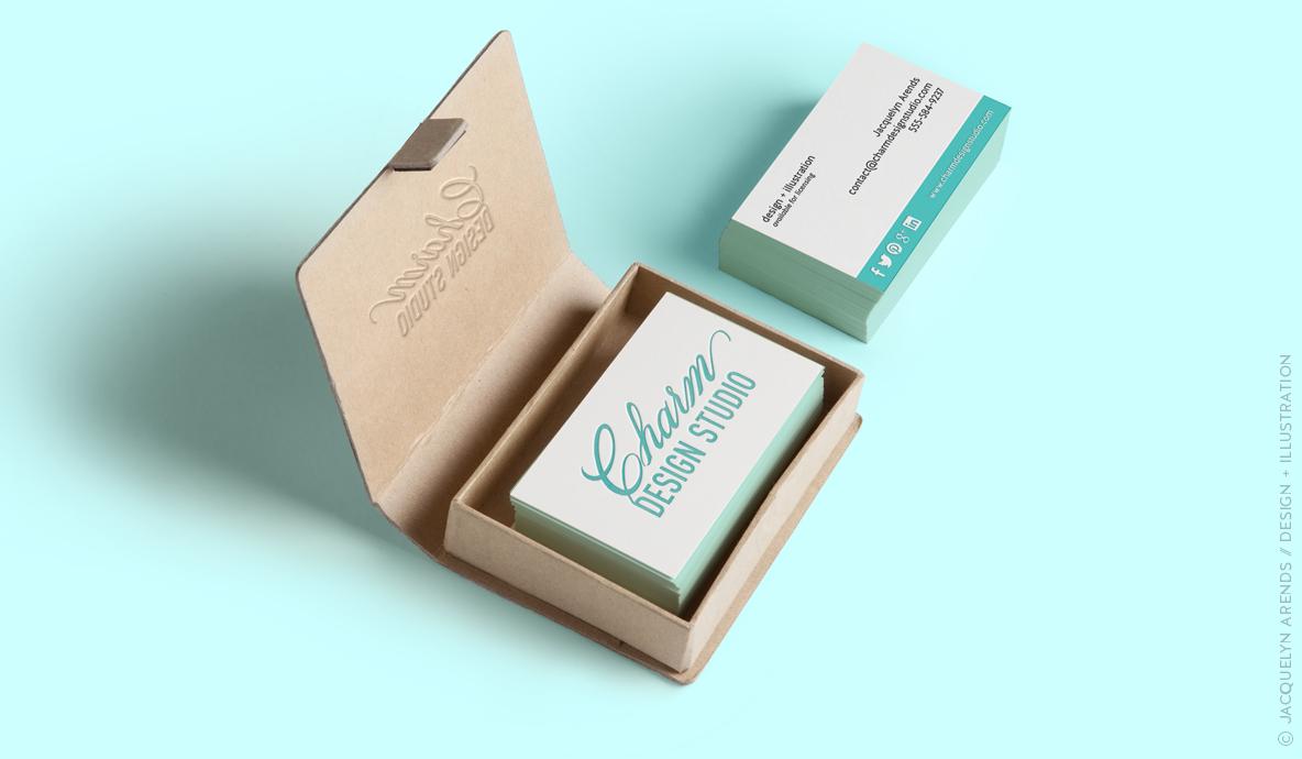Charm Design Studio business cards