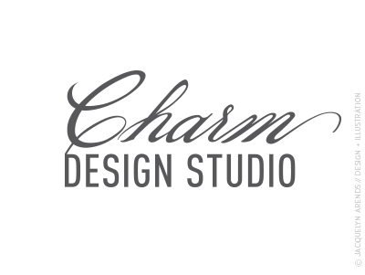 Charm Design Studio identity design