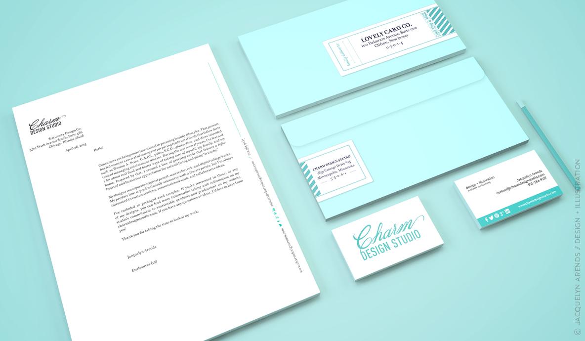 Charm Design Studio stationery set