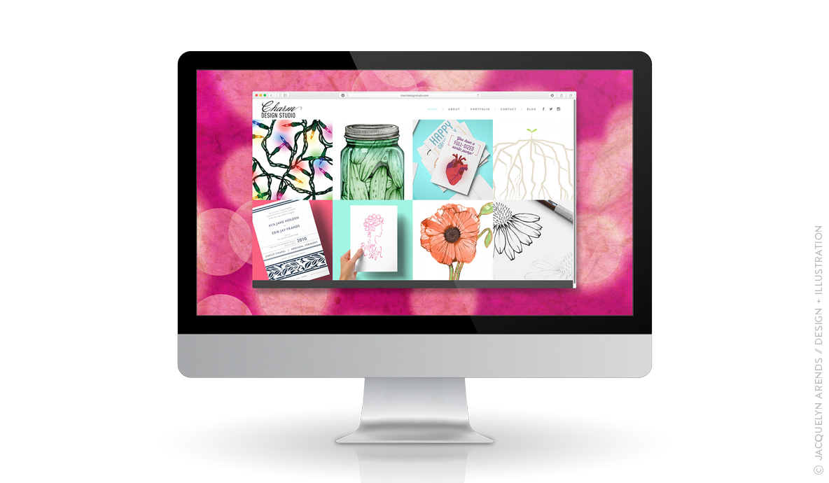 Charm Design Studio website