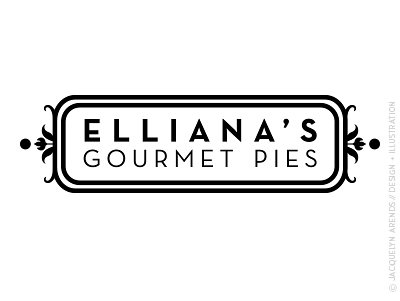 Elliana's Gourmet Pies identity design