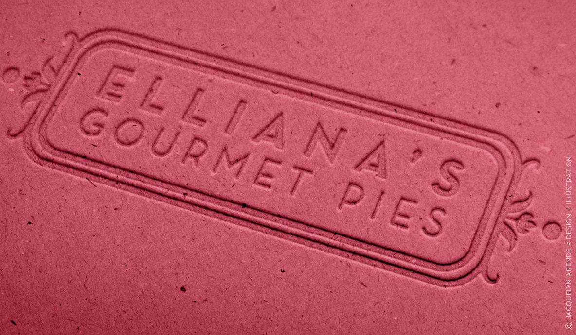 Elliana's Gourmet Pies cardboard box lid