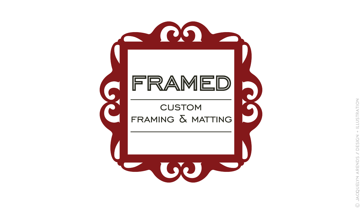 Framed - custom framing and matting logo