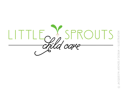 Little Sprouts Child Care identity design