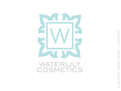 Waterlily Cosmetics identity design