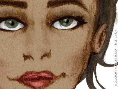 Fashion illustration study — digitally painted cover image