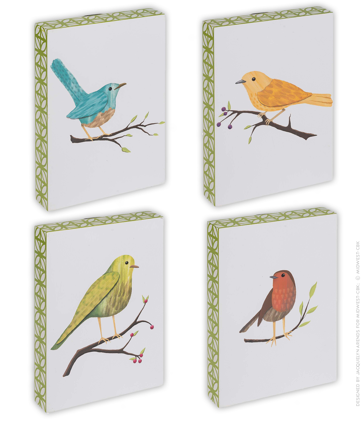 Wall Art Bird Illustration / Design for Contemporary Garden Collection within Midwest-CBK's July 2017 product catalogue