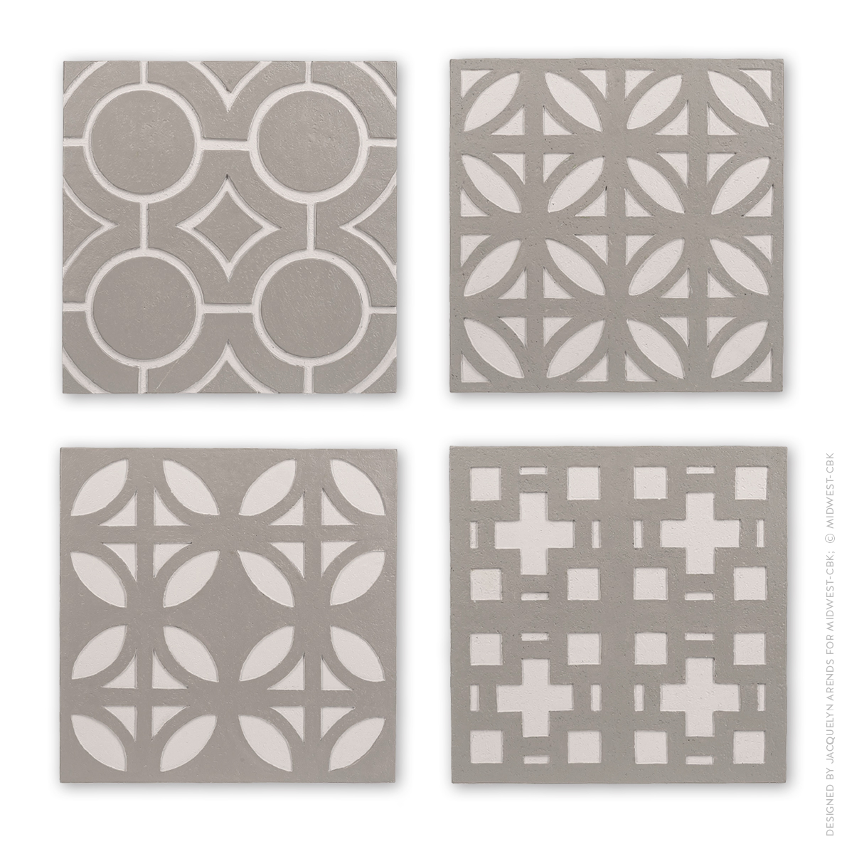 Stepping Stone repeating pattern design for Contemporary Garden Collection within Midwest-CBK's July 2017 product catalogue