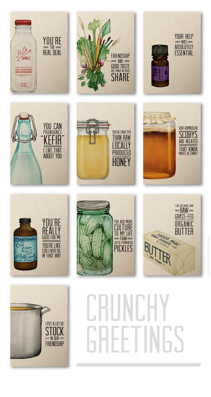 A Little Bit Crunchy - a collection by Charm Design Studio, LLC.