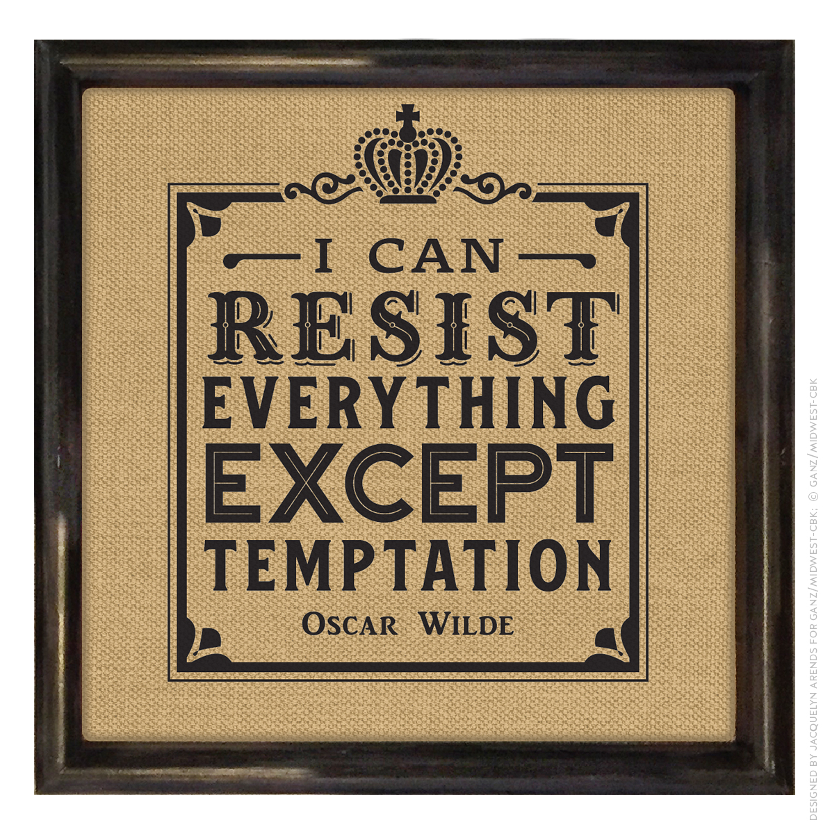 Men's Gift 2018 - Oscar Wilde quote wall decor; © Ganz/Midwest-CBK 2018
