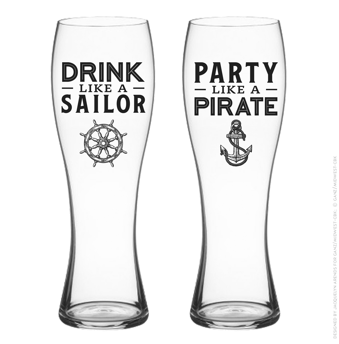 Men's Gift 2018 - Drink Like a Sailor & Party Like a Party pilsner set; © Ganz/Midwest-CBK 2018
