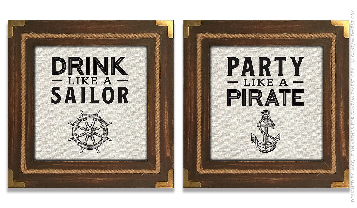Men's Gift 2018 - Sailor & Pirate wall decor; © Ganz/Midwest-CBK 2018