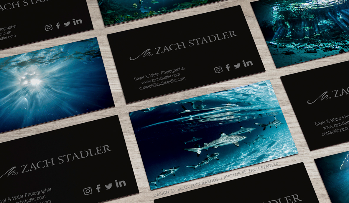 Zach Stadler Photography identity design. Design copyright Jacquelyn Arends; Photography copyright Zach Stadler