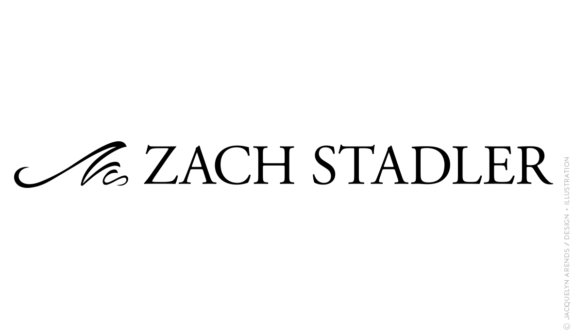 Zach Stadler logo design by Jacquelyn Arends