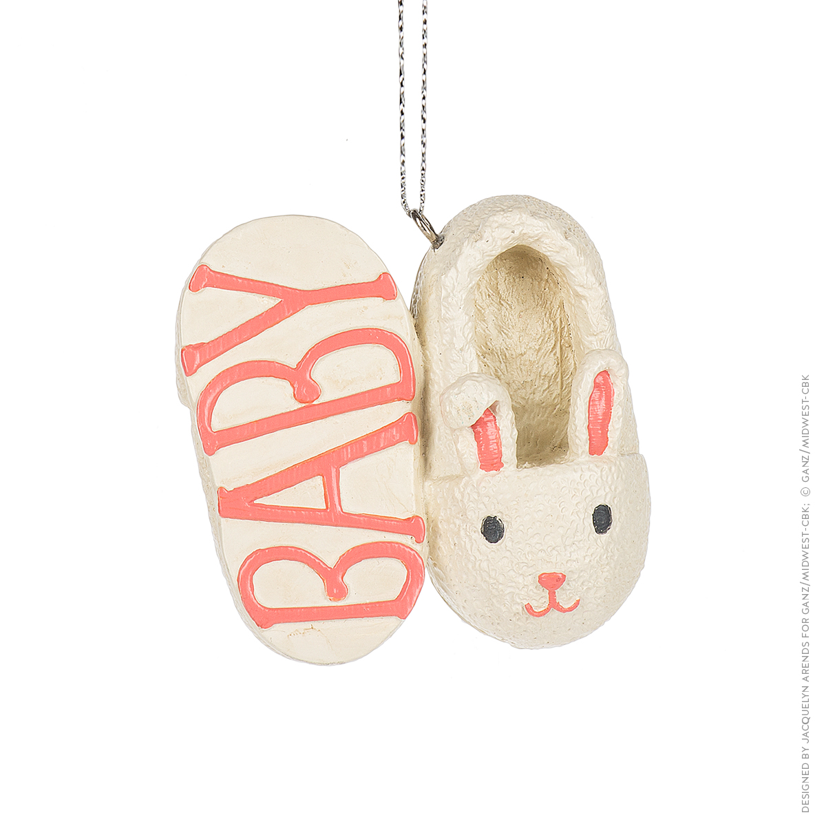 Specialty Ornaments Baby Slippers in Pink ornament by Jacquelyn Arends; © Ganz/Midwest-CBK 2019