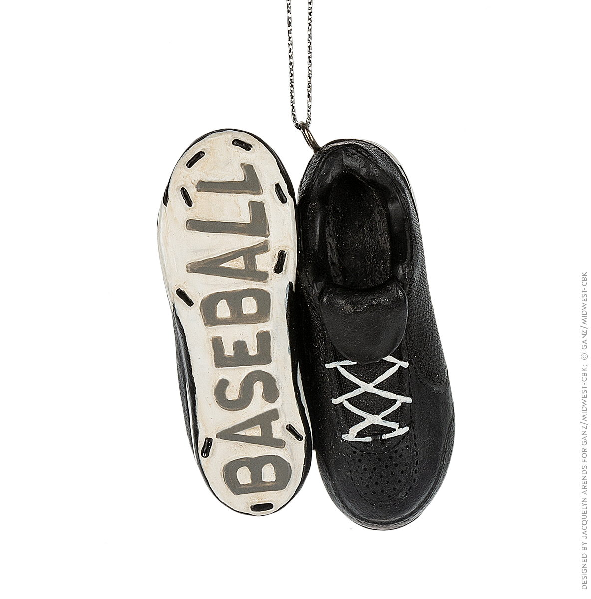 Specialty Ornaments Baseball Shoes ornament by Jacquelyn Arends; © Ganz/Midwest-CBK 2019