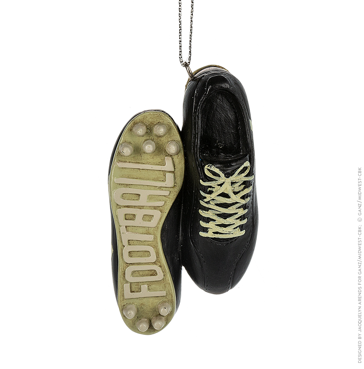 Specialty Ornaments Football Shoes ornament by Jacquelyn Arends; © Ganz/Midwest-CBK 2019