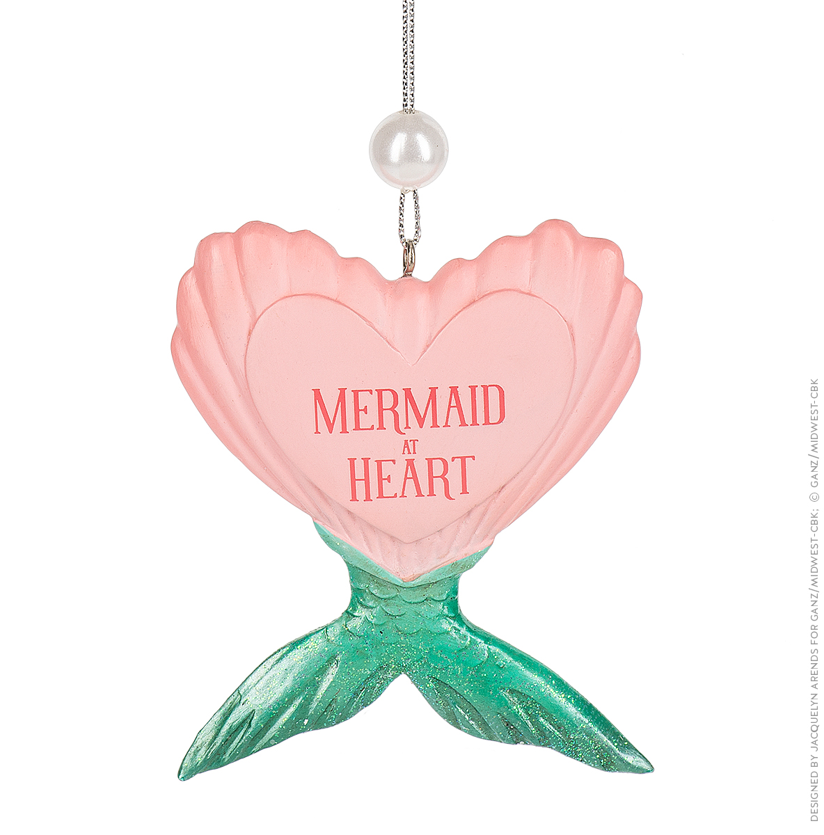 "Specialty Ornaments ""Mermaid at Heart"" ornament by Jacquelyn Arends; © Ganz/Midwest-CBK 2019"
