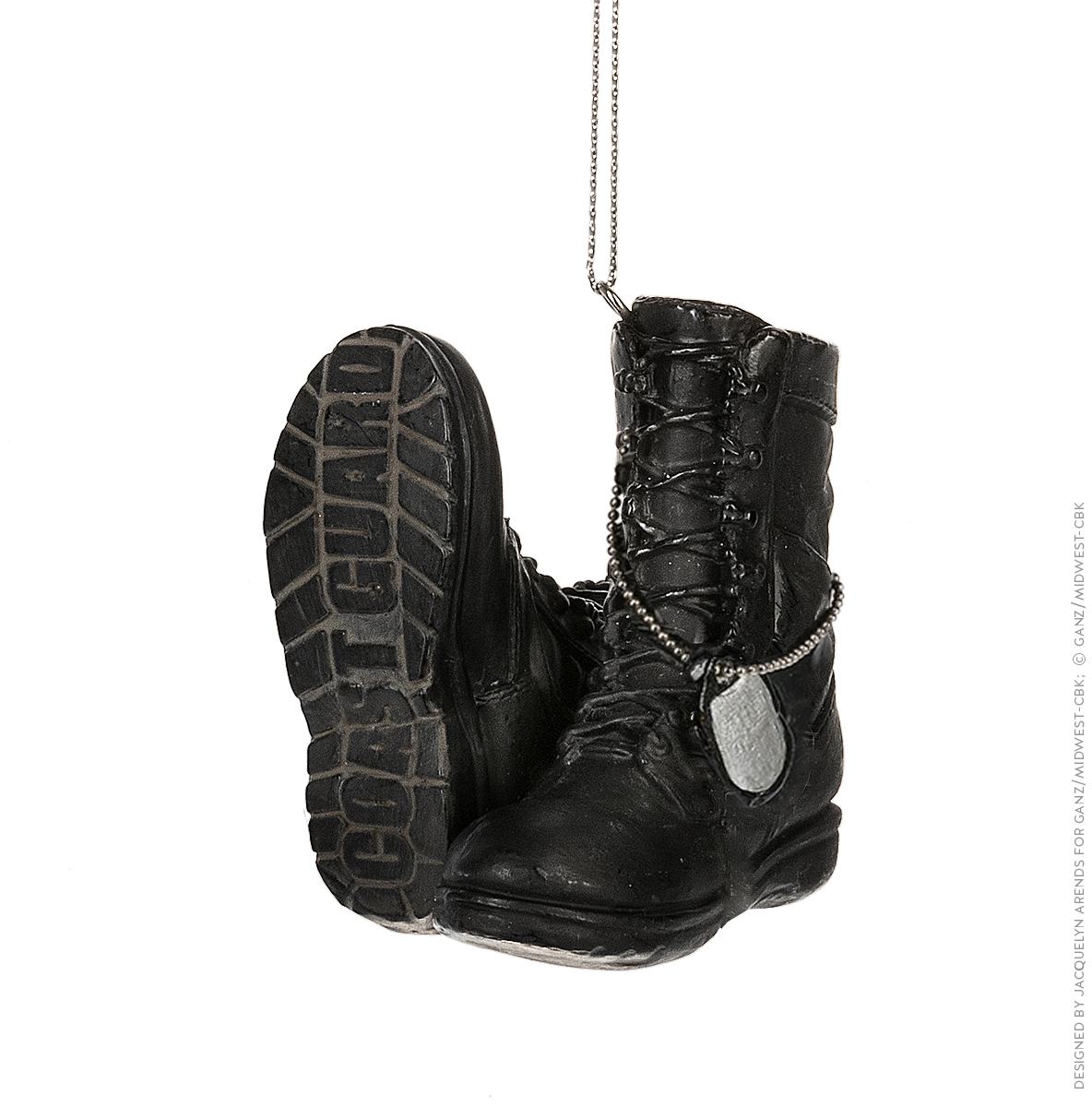 Specialty Ornaments Coast Guard boots ornament by Jacquelyn Arends; © Ganz/Midwest-CBK 2019