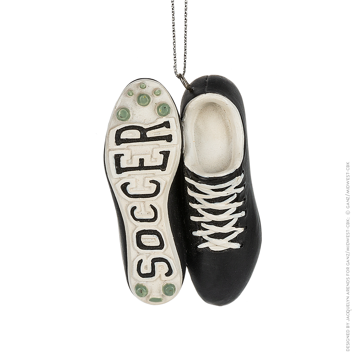 Specialty Ornaments Soccer Shoes ornament by Jacquelyn Arends; © Ganz/Midwest-CBK 2019