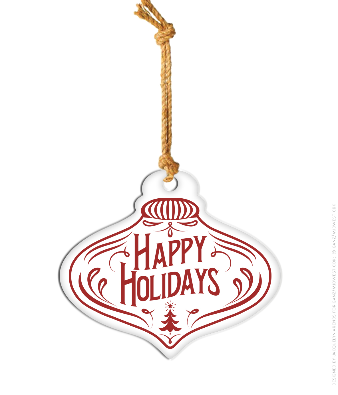 Large Enamel Hanging Ornament, Happy Holidays; © Ganz/Midwest-CBK 2019