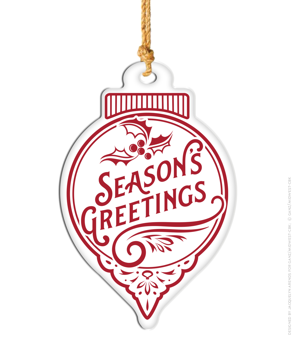 Large Enamel Hanging Ornament, Season's Greetings; © Ganz/Midwest-CBK 2019
