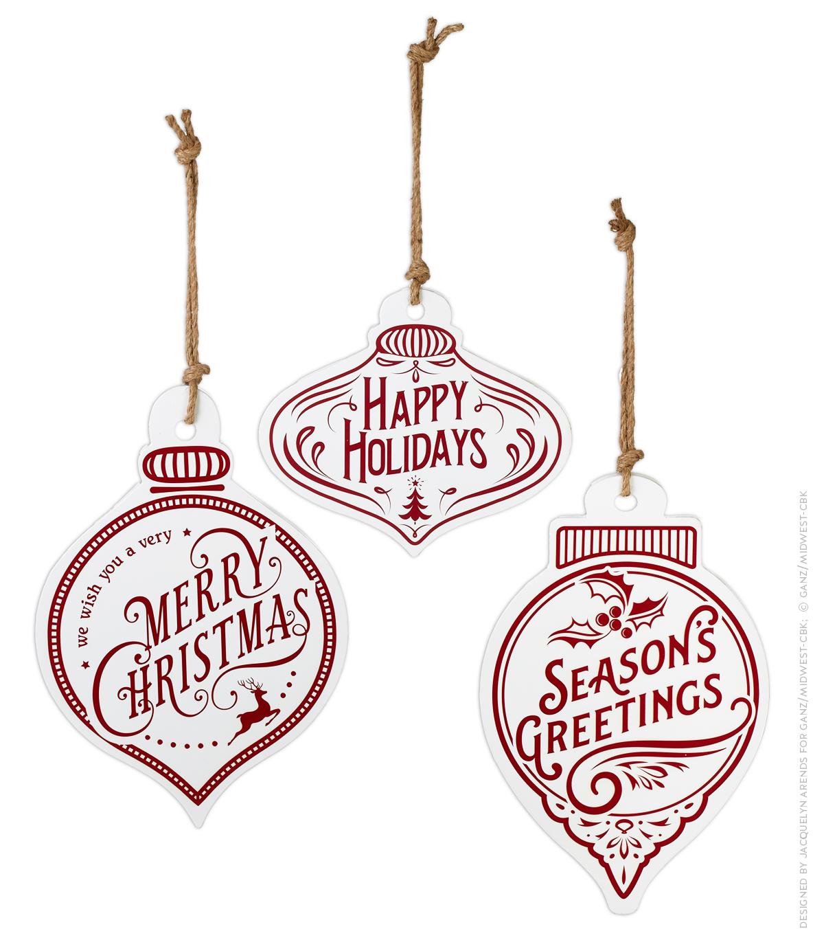 Large Enamel Hanging Ornaments; © Ganz/Midwest-CBK 2019