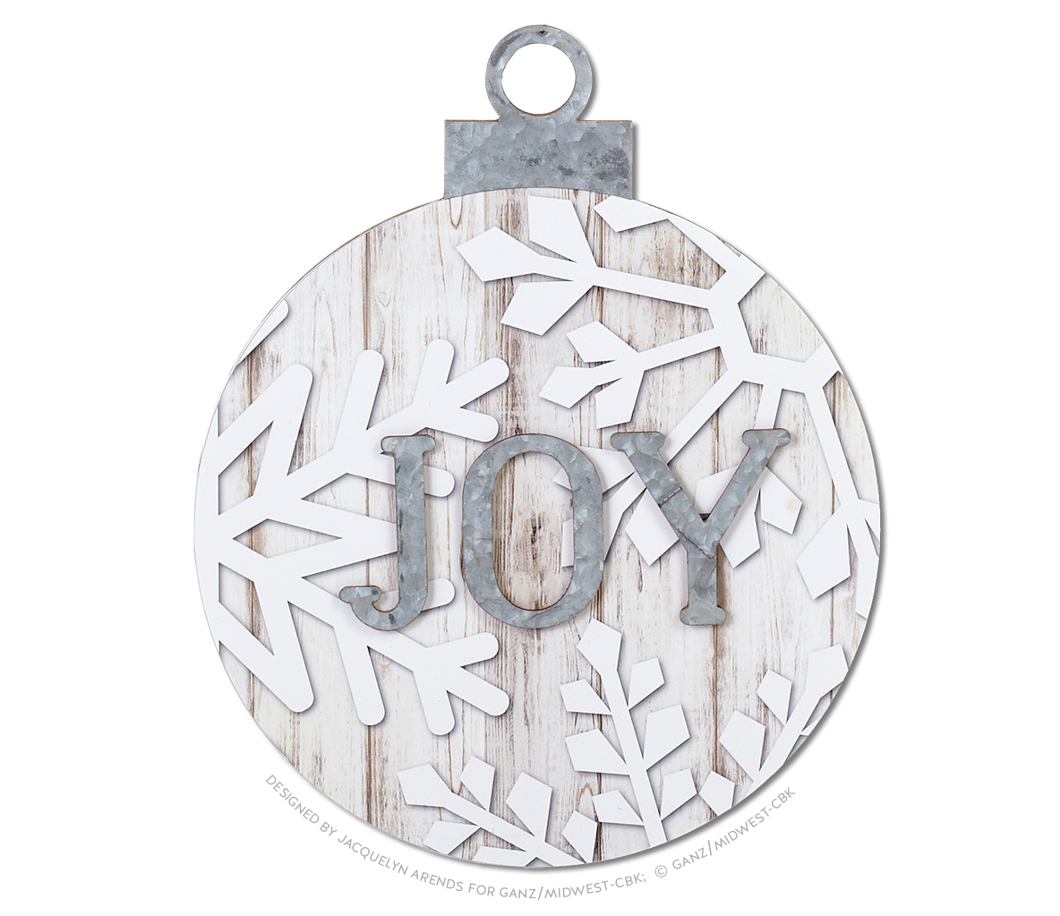 Snowflake Oversized Ball Ornament - Joy; © Ganz/Midwest-CBK 2019