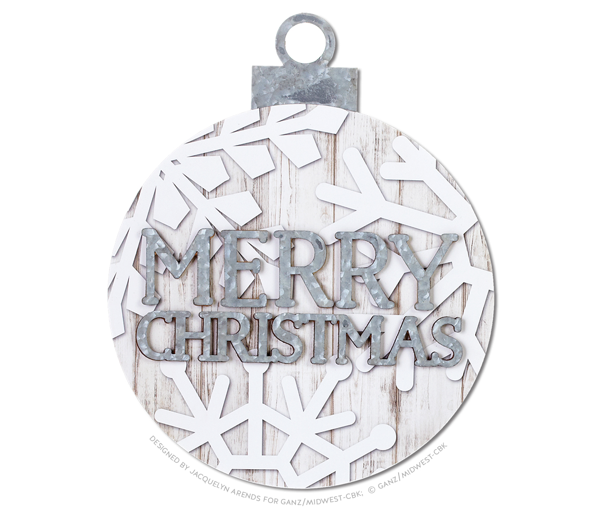 Snowflake Oversized Ball Ornament - Merry Christmas; © Ganz/Midwest-CBK 2019