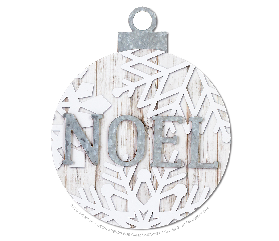 Snowflake Oversized Ball Ornament - Noel; © Ganz/Midwest-CBK 2019