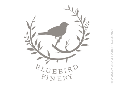 Bluebird Finery logo design / © Jacquelyn Arends