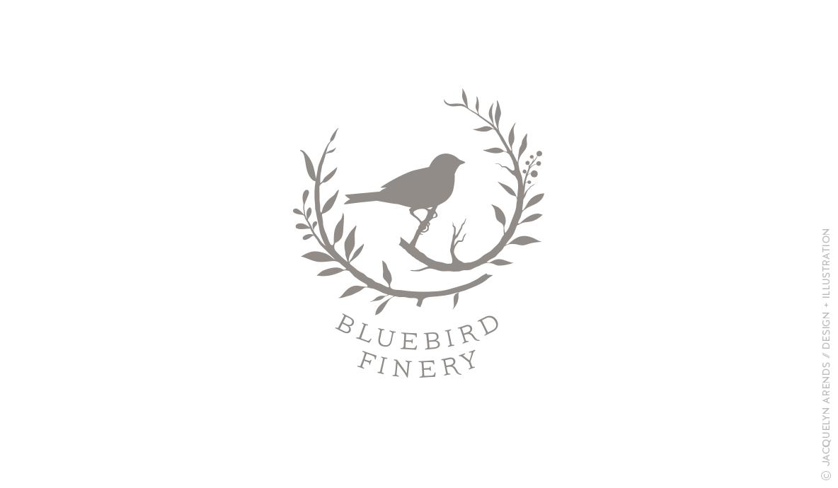 Bluebird Finery logo design / © Jacquelyn Arends