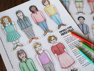 Popsicle Stick Paper Dolls - © Charm Design Studio, LLC.