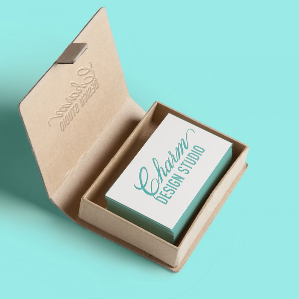 Charm Design Studio business card; © Jacquelyn Arends
