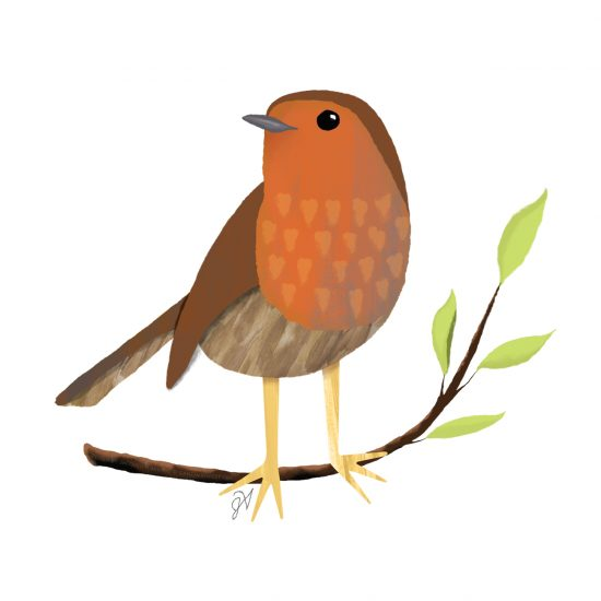 Contemporary Garden winter robin designed by Jacquelyn Arends; © Ganz/Midwest-CBK