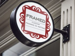 Framed Custom Framing & Matting logo, © Jacquelyn Arends