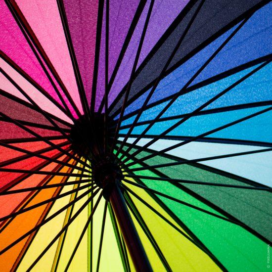 Rainbow Umbrella; © Pixelumina