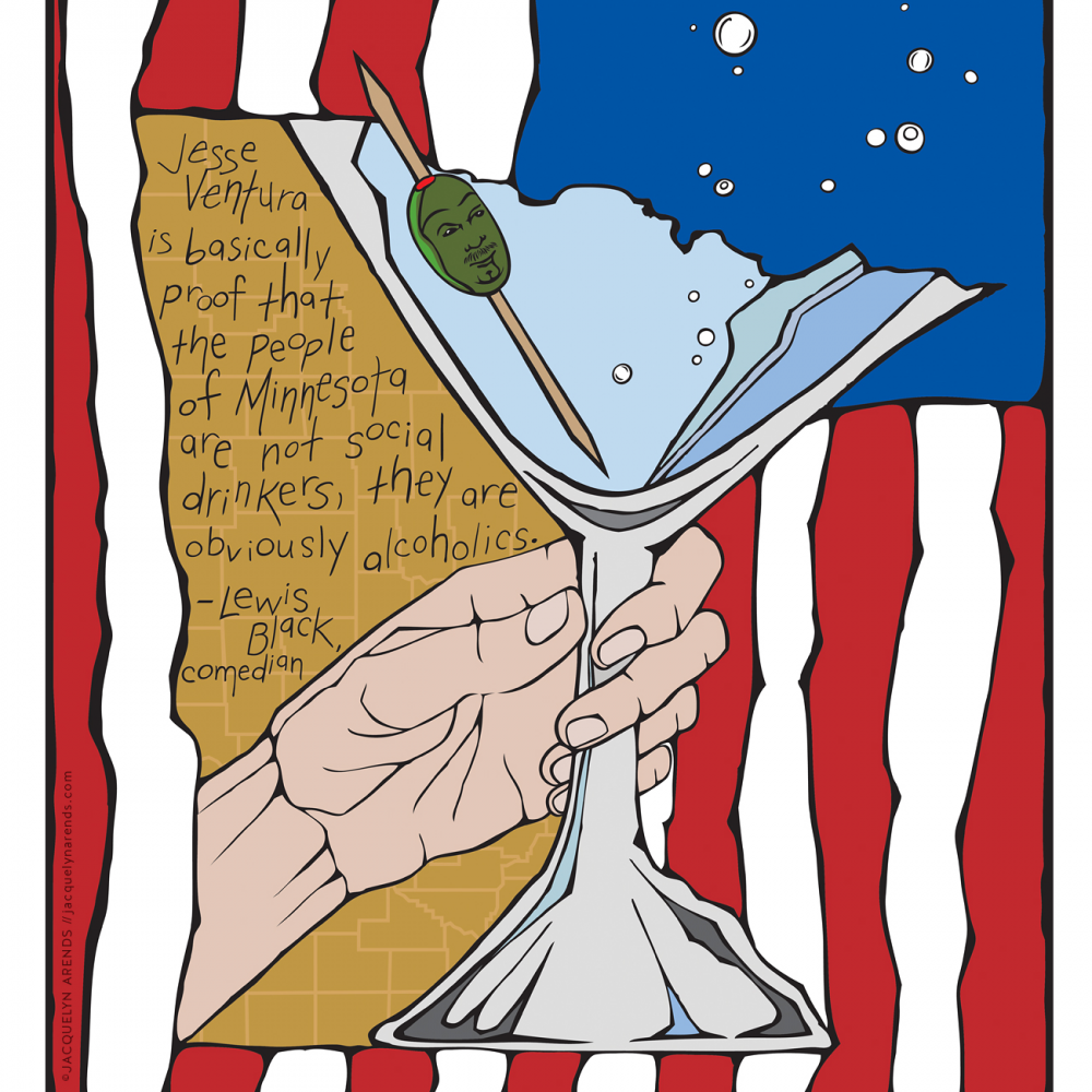 Minnesota State of Mind poster, © Jacquelyn Arends