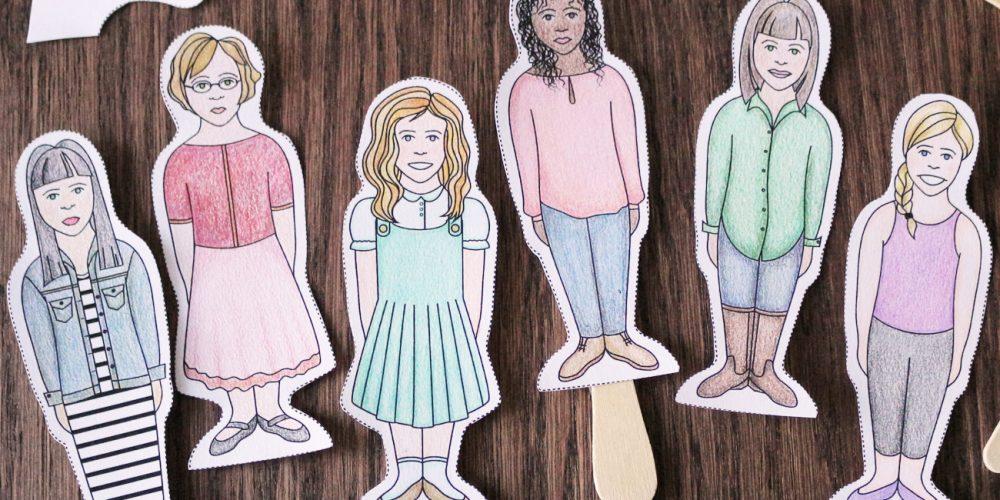 Popsicle Stick Paper Dolls; © Charm Design Studio, LLC.