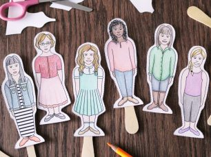 Popsicle Stick Paper Dolls; © Charm Design Studio, LLC.