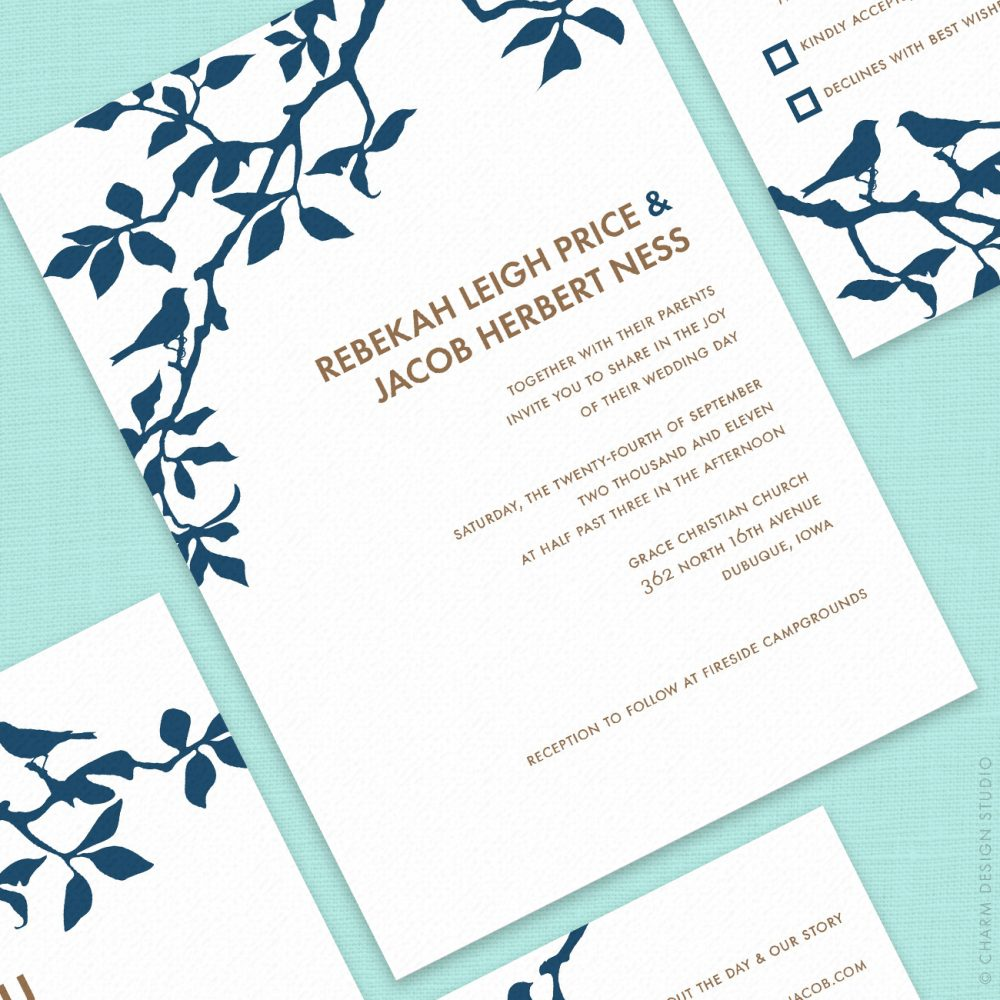wedding stationery sets © Charm Design Studio