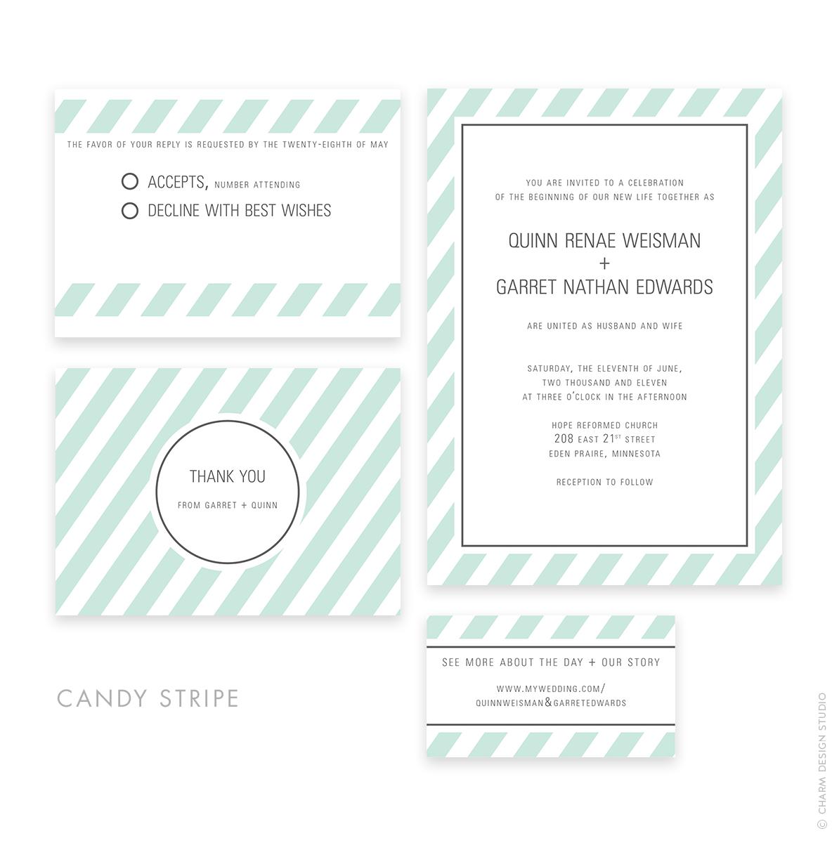 wedding stationery sets © Charm Design Studio