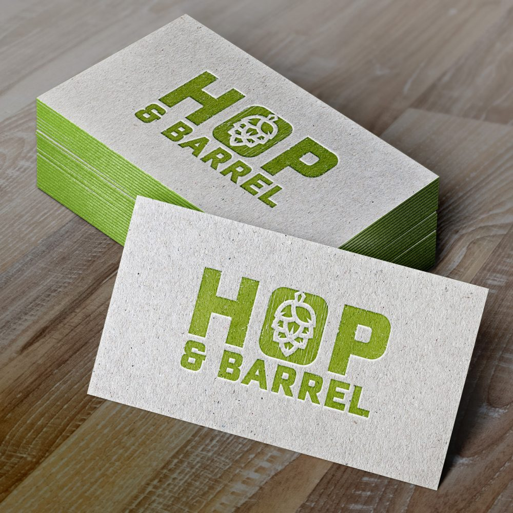 Hop & Barrel Brewing Company; business card for Brand Yourself, © Jacquelyn Arends