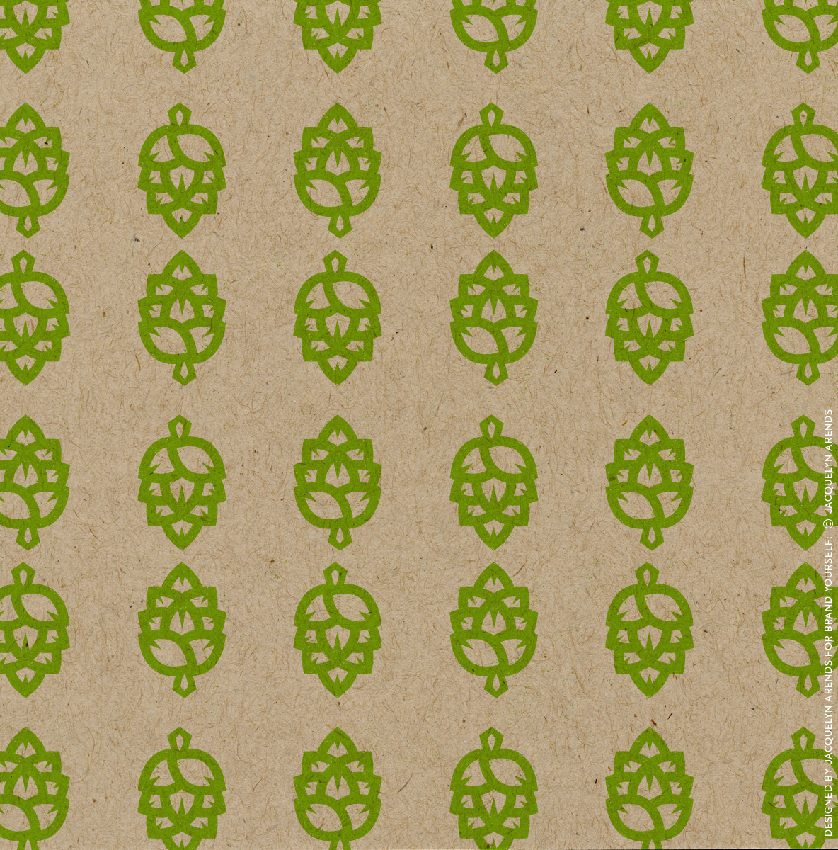 Hop & Barrel Brewing Company; logo icon pattern for Brand Yourself, © Jacquelyn Arends